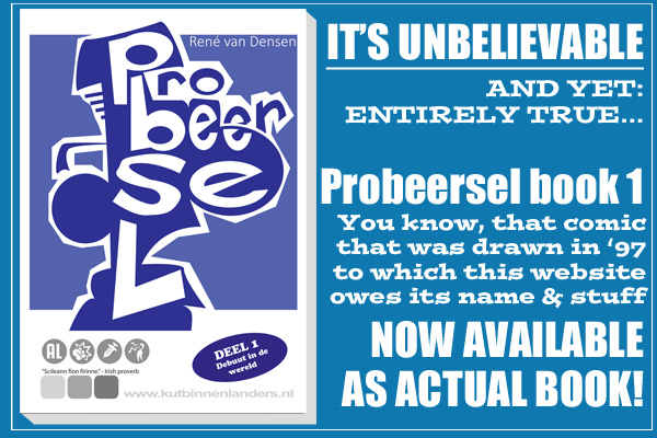 Probeersel book 1 for sale now ! - click for more...